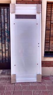 Puerta Aluminio 0.80x2.00 Reforz.36 Mm.incluye Iva.fabrica