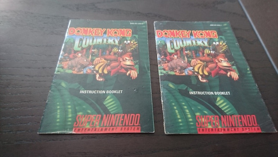 Manual Donkey Kong Country Original Pra Super Nintendo