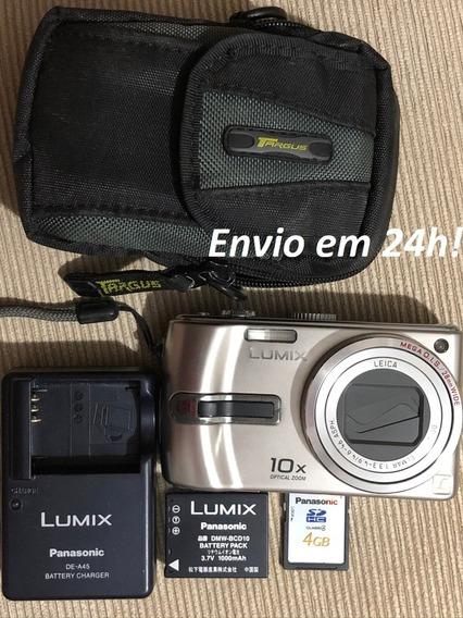 Câmera Digital Panasonic Lumix Dmc-tz3 Lentes Leica Zoom 10x