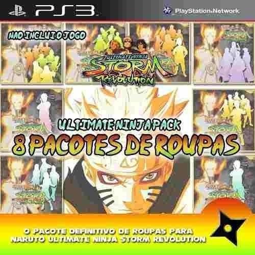 Ps3 - 8 Dlcs* Para Naruto Ultimate Ninja Storm Revolution