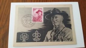 Postal Selo Rhm A-85 - Centenário Escotismo - Baden Powell