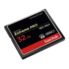 Cartão Compact Flash 32gb Sandisk Extreme Pro 160mb/s Udma7