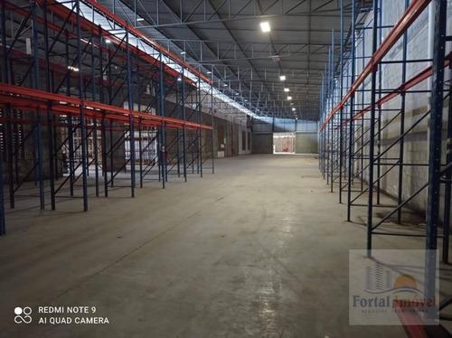 Galpão Para Alugar, 2800 M² Por R$ 36.400,00/mês - Distrito Industrial - Maracanaú/ce - Ga0129