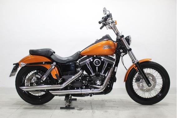 Harley Davidson Dyna Street Bob 2015 Laranja