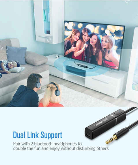 Transmissor Bluetooth 4.2 2 Fones Tv Pc Aptx Ugreen Novo R