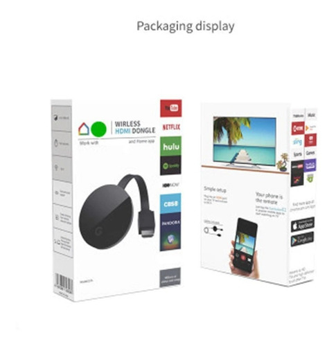 Mirascreen 2.4 Hdmi Miracast Airplay Cromecast Tv Stick