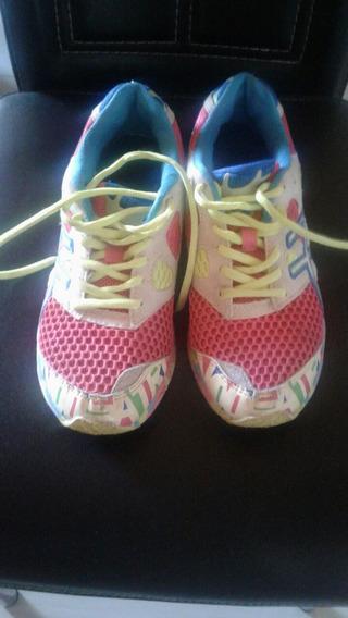 Zapatos Ascis Deportivos Talla 39 Usados En Buen Estado