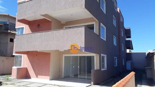 Lindo Apartamento Com 3 Dormitórios À Venda, 98 M² Por R$ 320.000 - Enseada Das Gaivotas - Rio Das Ostras/rj - Ap0199