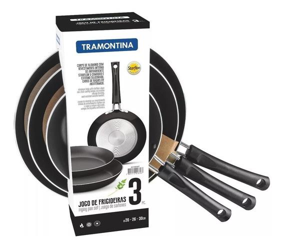 Tramontina 20199007 Juego De Sartenes De Aluminio 3 Piezas N
