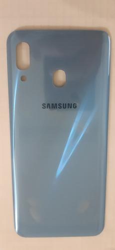 Tampa Traseira Galaxy A30 Azul Nova Vidro