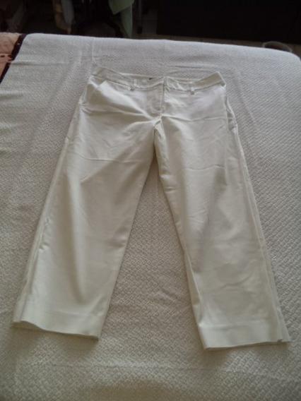 Pantalon Capri Jeans Kenar Dama 10 Blanco Strech Recto
