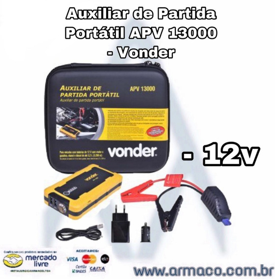 Auxiliar De Partida Portátil Apv 13000 12v - Vonder