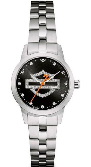 Reloj Harley Davidson Original Para Dama 76l182