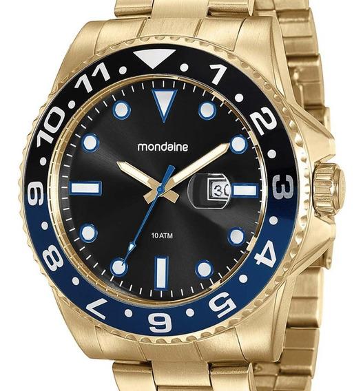 Relógio Mondaine Masculino 94785gpmvda3 Dourado + Nota