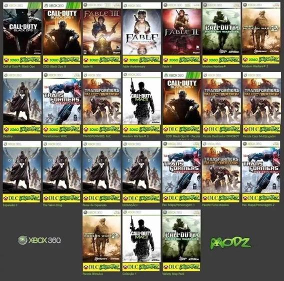 11 Jogos Originais +dlc Xbox 360 Mídia Digital Ñ É Cd