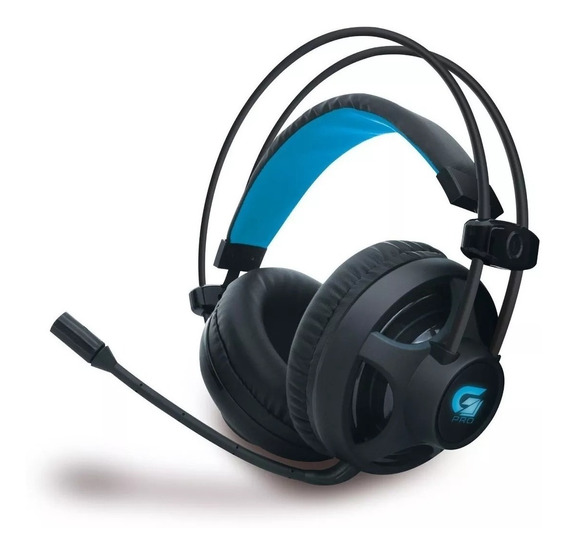 Fone Headset Gamer Com Microfone P2 Usb Fortrek H2 Led Azul