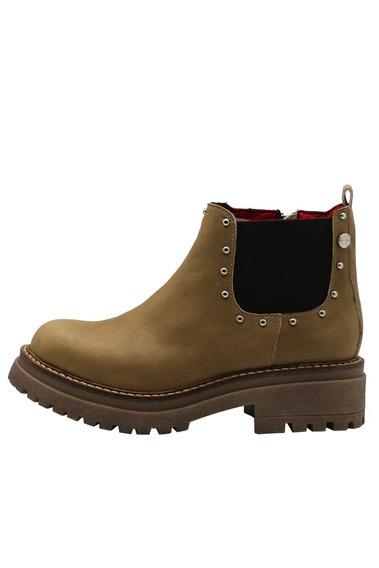 Zapatos Botas Botinetas Mujer Cuero Vison Leblu 839