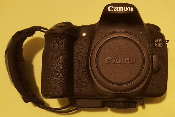 Canon Eos 60d Seminova Usada Excelente Estado + Carregador + Bateria Original E Paralela + Fita Lateral + Fita Pescoço