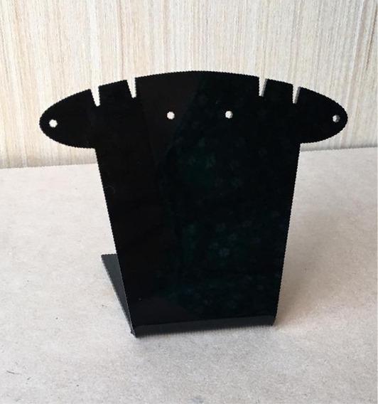 Paquete 16 Pz Exhibidor De Acrilico Negro Doble