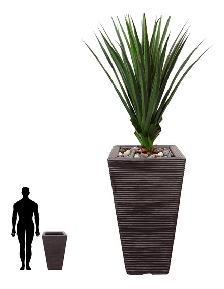 1 Vaso De Planta Quadrado Decorativo Design Moderno Q 75x40