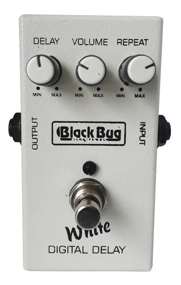 Blackbug Pedal Guitarra - Black Bug - Twd Pedal White Delay