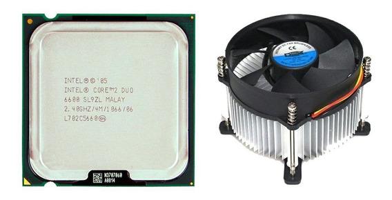 Processador Core 2 Duo E6600 2,4ghz Lga775 + Cooler Dex