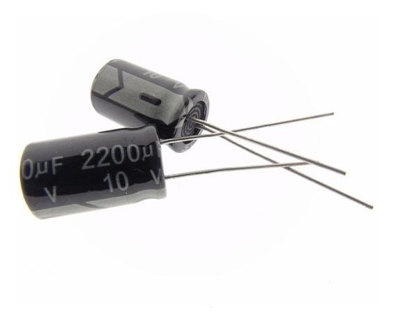 Capacitor Eletrolitico 2200uf X 10v - 6 Peças
