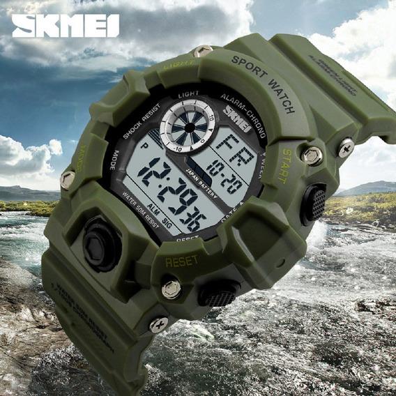 Relógio Masculino Digital Sport Shock Skmei Verde Militar