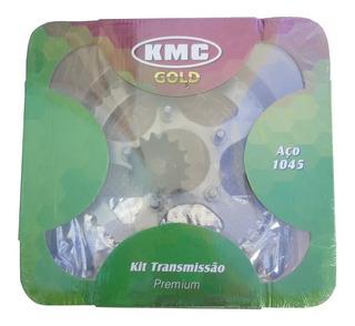 Kit Relação Xlr 125 + Brinde Graxa Aço 1045 1° Linha Gjb