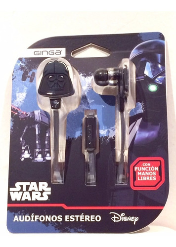 Imagen 1 de 2 de Star Wars Audífonos Estéreo Con Manos Libres (nuevo)