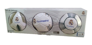 Balones De Futbol Barcelona/ Real Madrid Set 3 Pzas #2