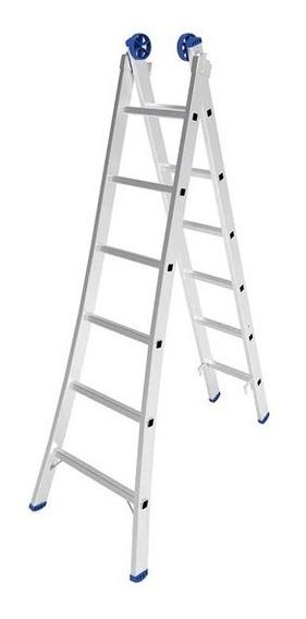 Escalera Aluminio Mor 2x6 Escalones 3.09mt Altura Utilizable