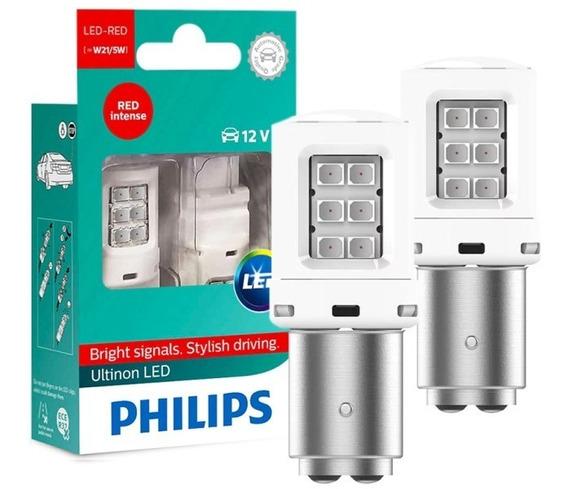 Lâmpada Lanterna Traseira Philips Led Vermelha P21 12v 5w