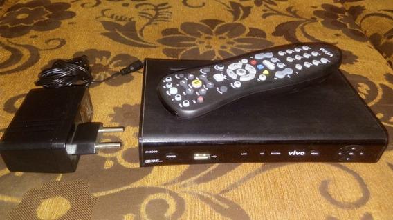 Aparelho Ponto De Tv Usb Hdmi Av Lan Original C/ Fonte Controle Remoto Novo Vivo Funcionando Perfeitamente