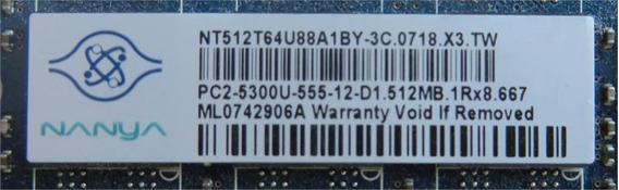 Memoria 512mb Ddr2 667mhz (nanya) (original Hp Compaq)