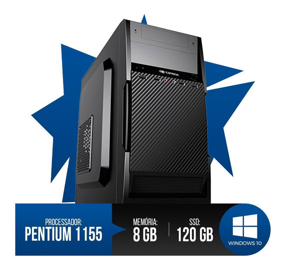 Pc Intel Pentium G2020, 8gb Ram Ddr3, Ssd 120gb Frete Gratis