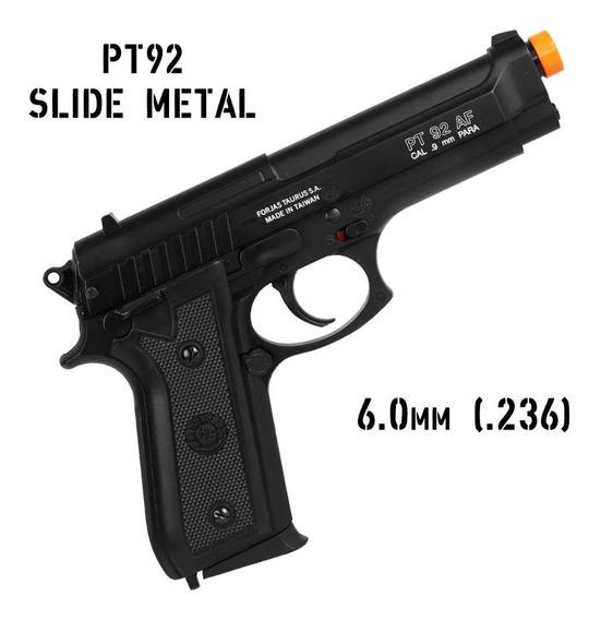 Pistola Airsoft Spring / Mola Taurus Pt92 Slide Metal 6mm