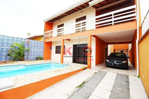 Imagem 1 de 30 de Sobrado Com 7 Dormitórios À Venda, 500 M² Por R$ 690.000 - Balneario Oasis - Peruíbe/sp - So0528
