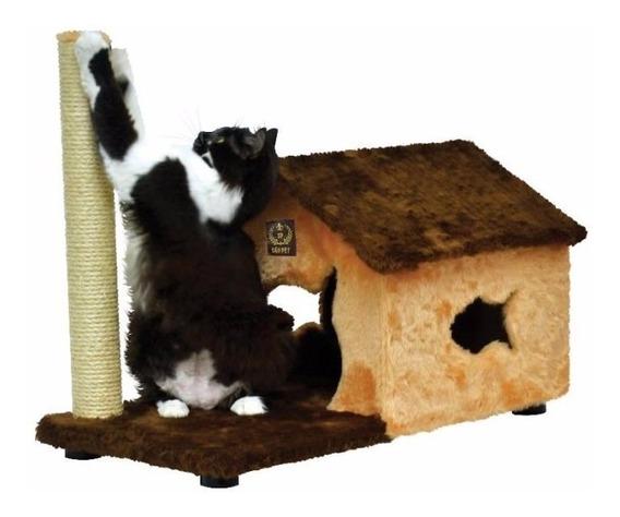 Arranhador Fit House Casinha Toca Para Gatos Sisal Pelúcia