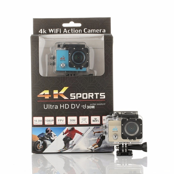 Camera Action Cam Sports Prova Dágua Ultra 4k Full Hd