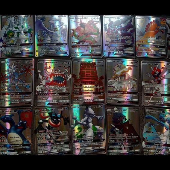 Kit 30 Cartas Pokemon Gx : 25 Gx + 5 Gx Shiny Sem Repetidas