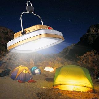 Lámpara Solar Recargable De 300 Lúmenes, 3w Para Campamento