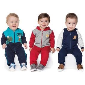 Roupas De Bebê Menino Kit 3 Conjuntos Longo Inverno Moletom