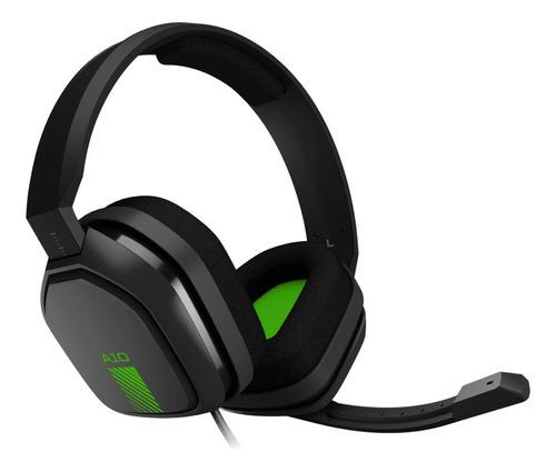 Imagen 1 de 3 de Auriculares gamer Astro A10 gray y green