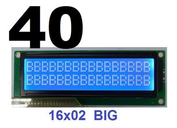 Display Fundo Background Azul Big Lcd 16x2 == Atacado Esp32 Nodemcu 8266 Arduino Automacao Portao Rele Chave Cancela