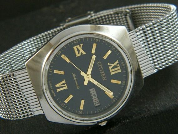 Reloj Citizen Automatico Vintage Extensible Metalico Liso 55