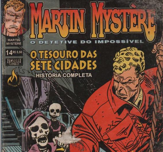 Revista Livro Martin Mystére O Tesouro Das Sete Cidades Nº14