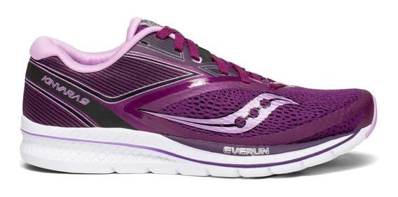 Zapatilla Saucony Running Kinvara 9 Mujer Violeta Rosa