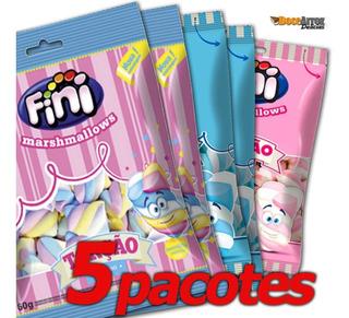 Kit Doce Para Festa Marshmallow Fini 5 Pac Sortidos 250g