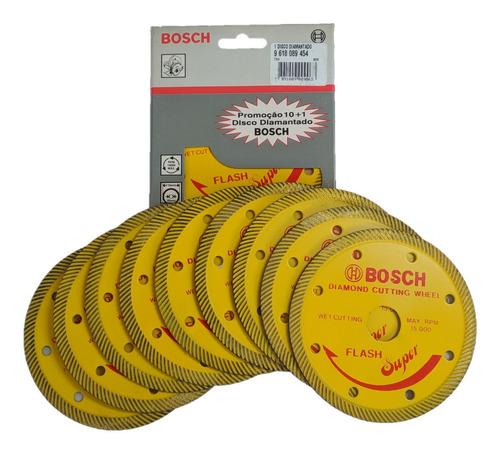 Imagem 1 de 3 de 10 Discos Diamantado Para Serra Mármore Bosch Flash Super